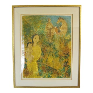 Leucaodam Lithograph of Chinese Women With a Horse For Sale