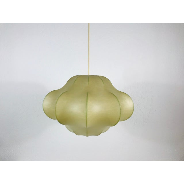 1960s Mid-Century Modern Flower Shape Cocoon Pendant Lamp, Italy For Sale - Image 12 of 12