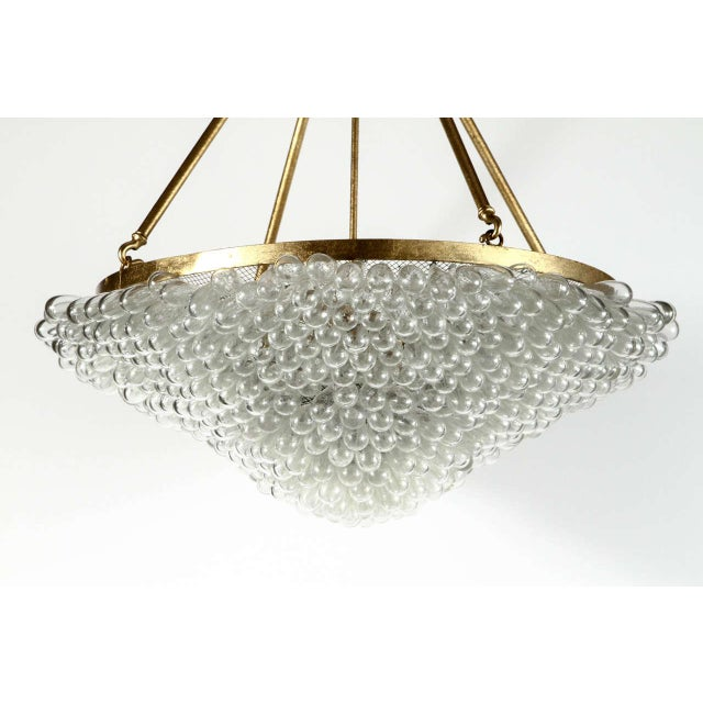 Large Blown Glass Beaded Chandelier - Image 3 of 9