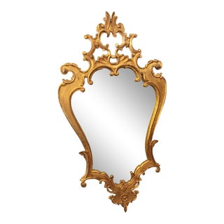 19th Century Antique Italian Hand Carved Mirror For Sale