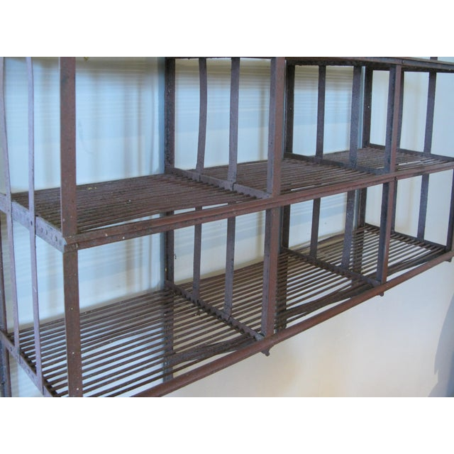 1960s Wrought Iron Wall-Hanging Shelving Rack For Sale - Image 5 of 7