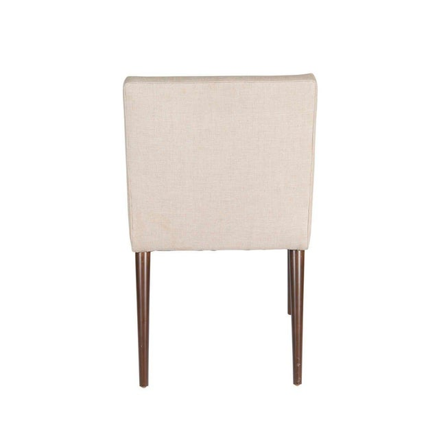 2010s Customized Set of 6 Sheppard Dowel Leg Side Dining Chairs For Sale - Image 5 of 5
