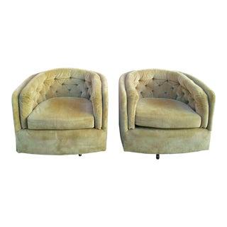 Sam Moore Barrel Back Swivel Chairs For Sale