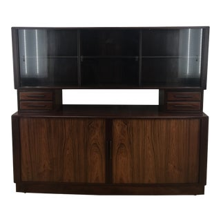 1950s Mid-Century Modern HP Hansen Rosewood Sideboard Hutch For Sale