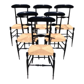Fratelli Levaggi Chiavari Chairs - Set of 6 For Sale