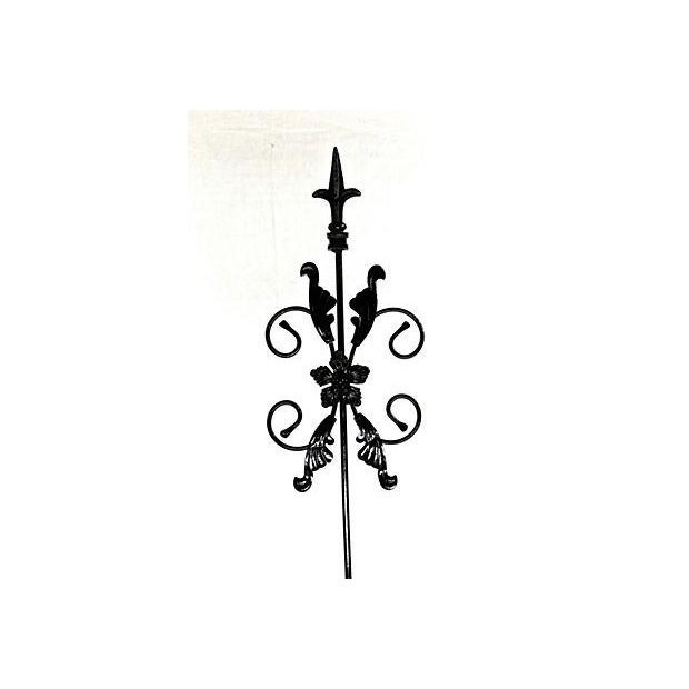 Metal Victorian Garden Ornaments - a Pair For Sale - Image 7 of 7