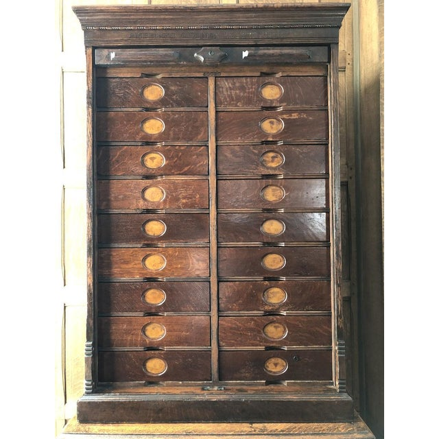 Early 21st Century Antique Ambergs File Cabinet For Sale - Image 5 of 11