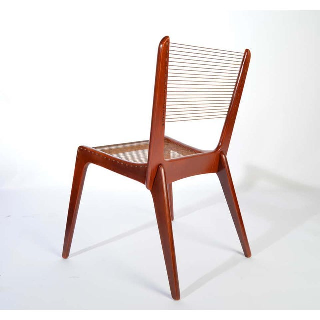 Wood Jacques Guillon Cord Chair For Sale - Image 7 of 8