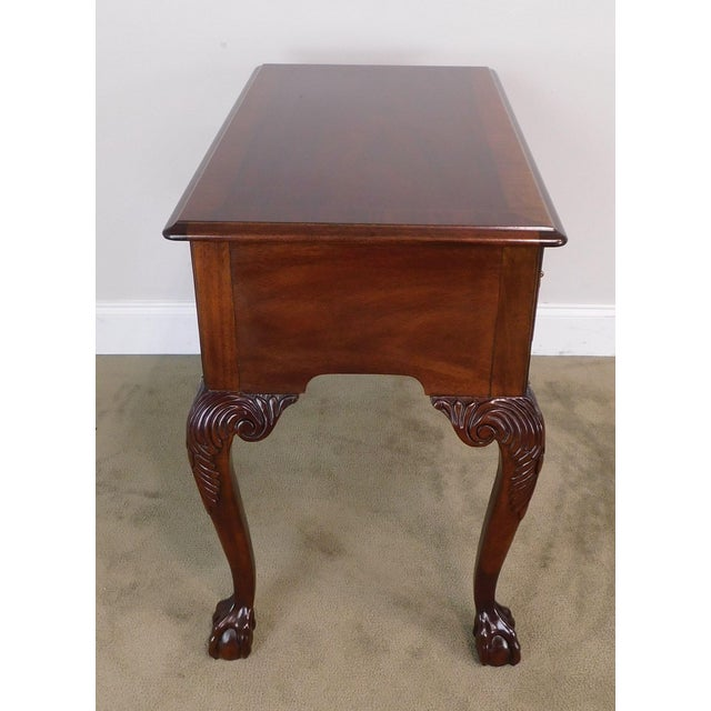 Councill Craftsman Chippendale Style Banded Mahogany Claw Foot Side or Console Table For Sale - Image 9 of 13