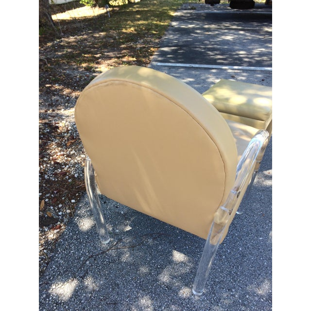 Charles Hollis Jones Lucite Chair - Image 3 of 8