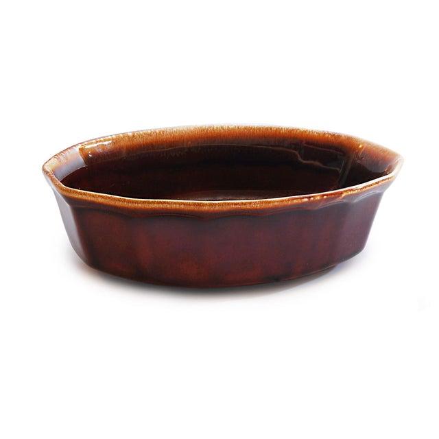 McCoy USA Brown Drip Glaze Oval Serving Dish - Image 2 of 4