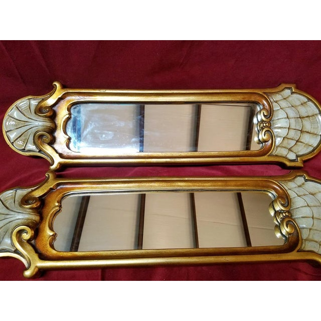 Gold Early 20c Pair of Pier Mirrors by Thorvald Strom For Sale - Image 8 of 14