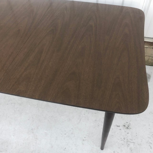 Mid-Century Dining Table With Leaf For Sale - Image 10 of 13