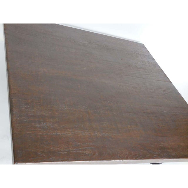 Calligraphy Walnut Coffee Table For Sale - Image 4 of 4