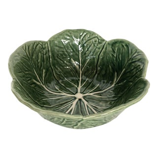 Vintage Bordallo Pinheiro Green Cabbage Salad Bowl