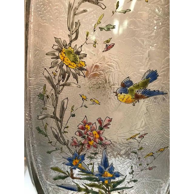 19th Century French Hand Enameled Mont Joye Vases- A Pair For Sale In Philadelphia - Image 6 of 10