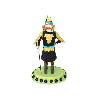 1970s Vintage Hand Painted Tole Figurine For Sale