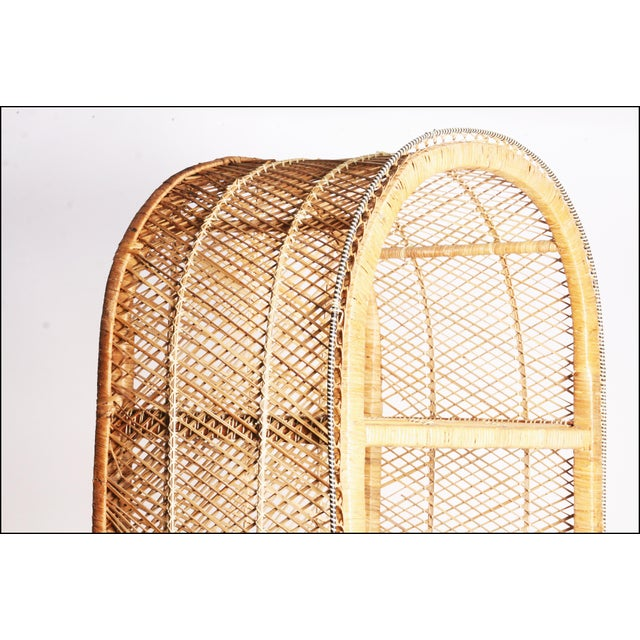 Vintage Boho Chic Wicker Bookcase with Dome Top For Sale - Image 6 of 11