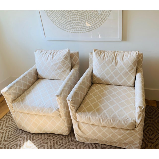 Wood Traditional Serena & Lily Spruce Street Slipcovered Chairs - a Pair For Sale - Image 7 of 7