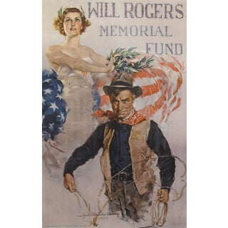 Original 1935 American Vintage Poster, Will Rogers, William Chandler Christy For Sale