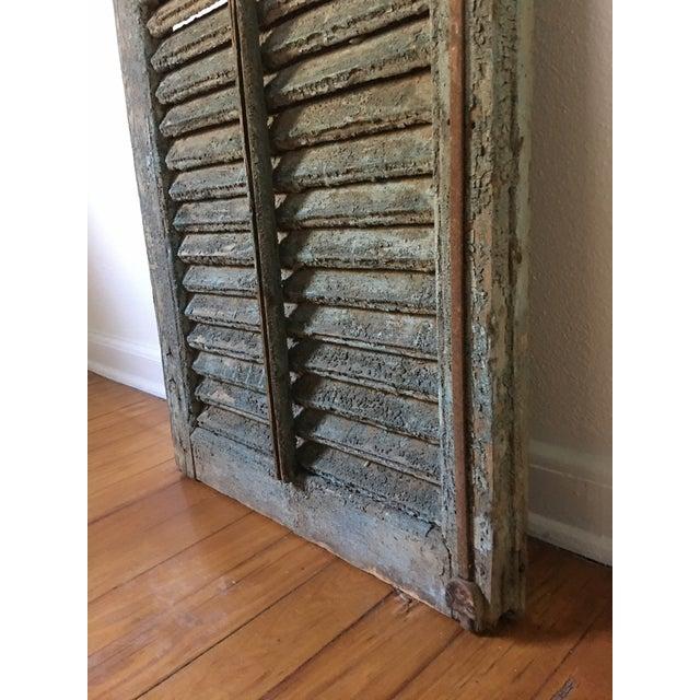 Mid 19th Century Antique 1800's Primitive Shutter For Sale - Image 5 of 6