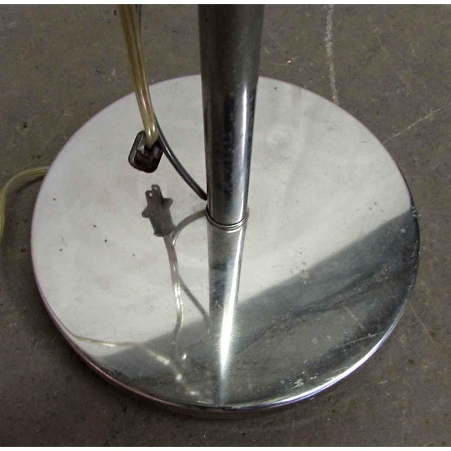 Standing Chrome Floor Lamp For Sale - Image 4 of 7