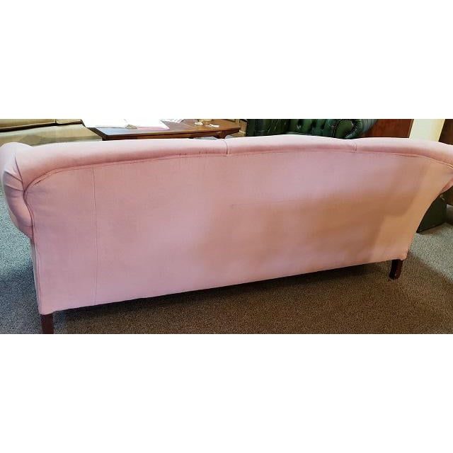 Vintage Sofa w/ Light Pink Fabric c.1960s Solid Walnut Frame - Solid Sturdy Cushions and Back - Quality Built Sofa This is...