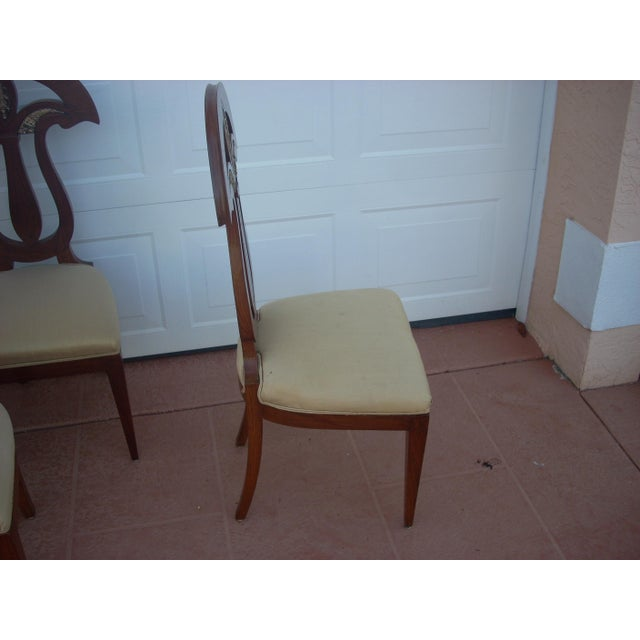 Empire Revival Dining Chairs - Set of 8 For Sale In Naples, FL - Image 6 of 8