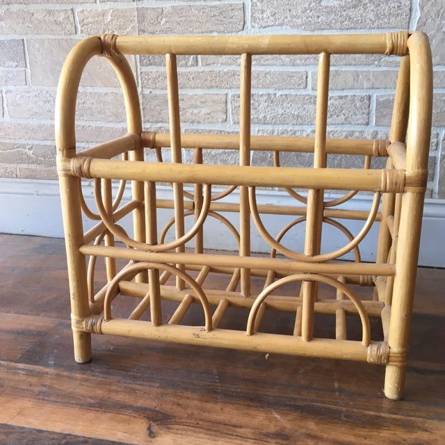 Storage, undefined and versatile. This beautiful vintage bentwood divided basket serves well for magazines, towels,...