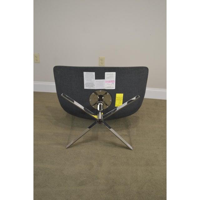 Chrome Monica Forster for Bernhardt Chrome Base Swivel Vika Lounge Chair For Sale - Image 7 of 13