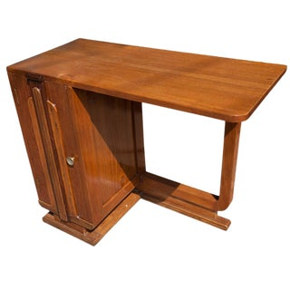 1950s Deco Period Teak Desk from Ship's Stateroom For Sale