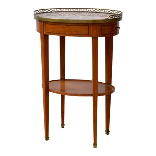 Marble Top French Directoire Style Side Table For Sale