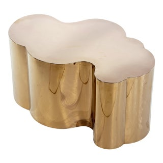 Kate Free Form Rose Gold Coffee Table For Sale