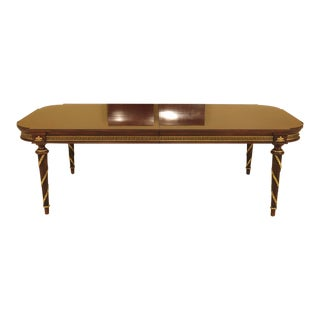Modern Ej Victor Regency Style Walnut Dining Table For Sale