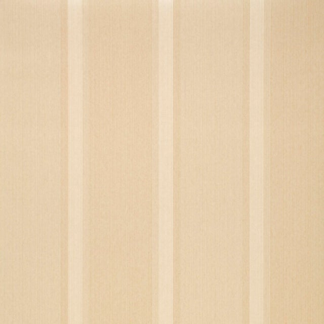 Contemporary Sample - Schumacher X Simply Charming Lucera Stripe Wallpaper in Ivory For Sale - Image 3 of 3