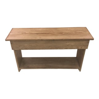 1930s English Cottage Lift Top Pine Bench For Sale