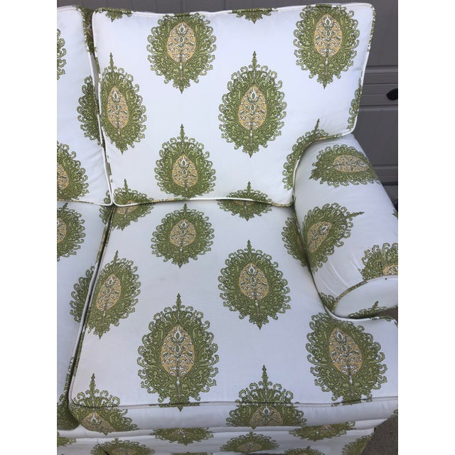 Modern Modern Upholstered Ikat Print Sofa by Century Furniture For Sale - Image 3 of 13