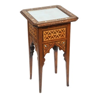 19th Century Moorish Levantine Inlaid Side Table For Sale