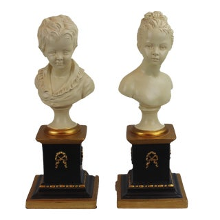 Pasargad N Y Houdon Busts - a Pair For Sale