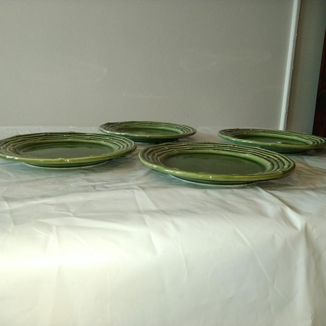 Late 20th Century Portuguese Decorative Plates - Set of 4 For Sale - Image 4 of 5