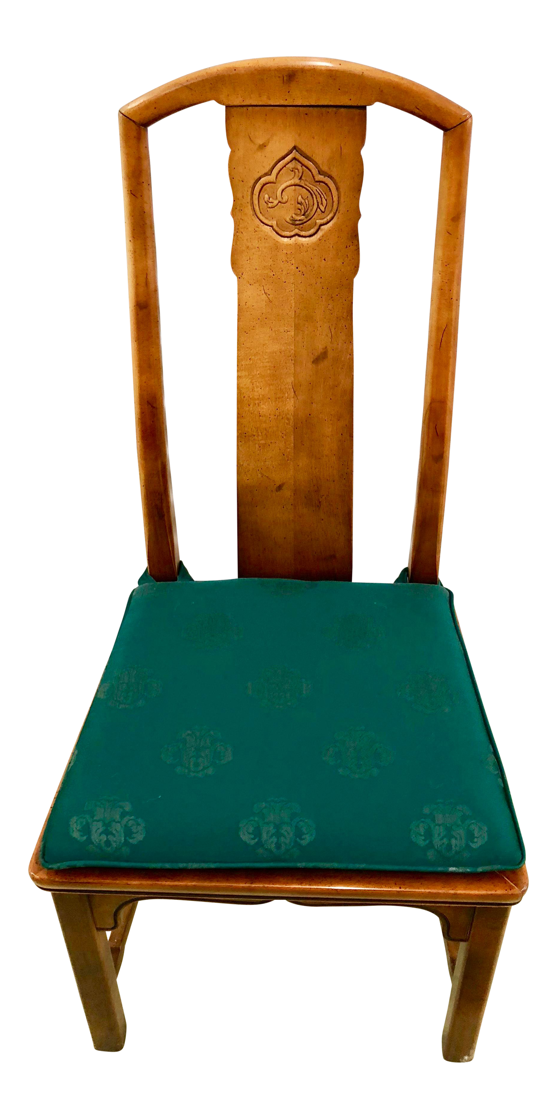 Asian Cherry Wood Dining Chairs   Set Of 6