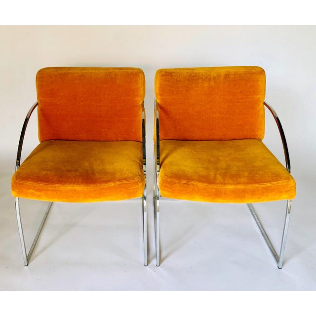 Vintage Mid Century Milo Baughman for Thayer Coggin Chairs- A Pair For Sale In Austin - Image 6 of 6