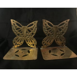 Vintage Brass Butterfly Bookends - a Pair Preview