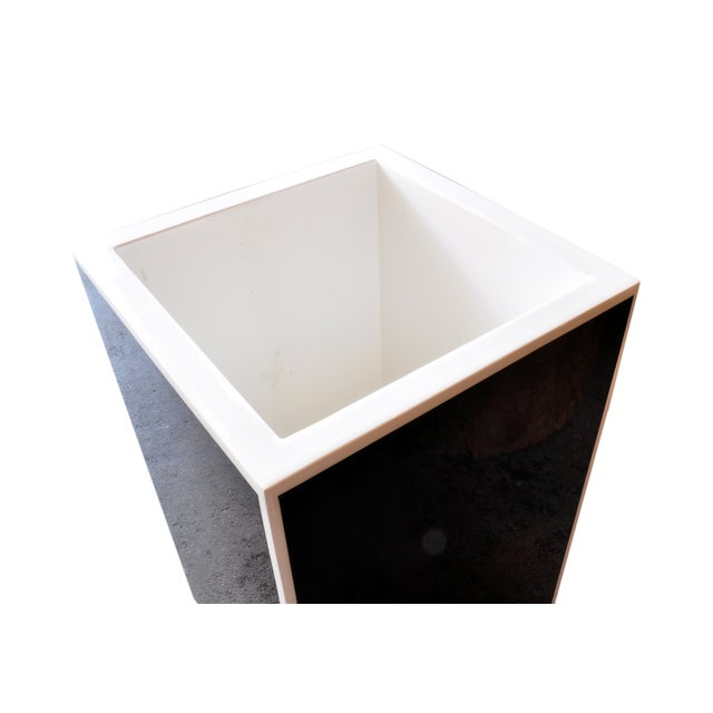 Black Lacquered Acyrlic Planter - Image 2 of 3