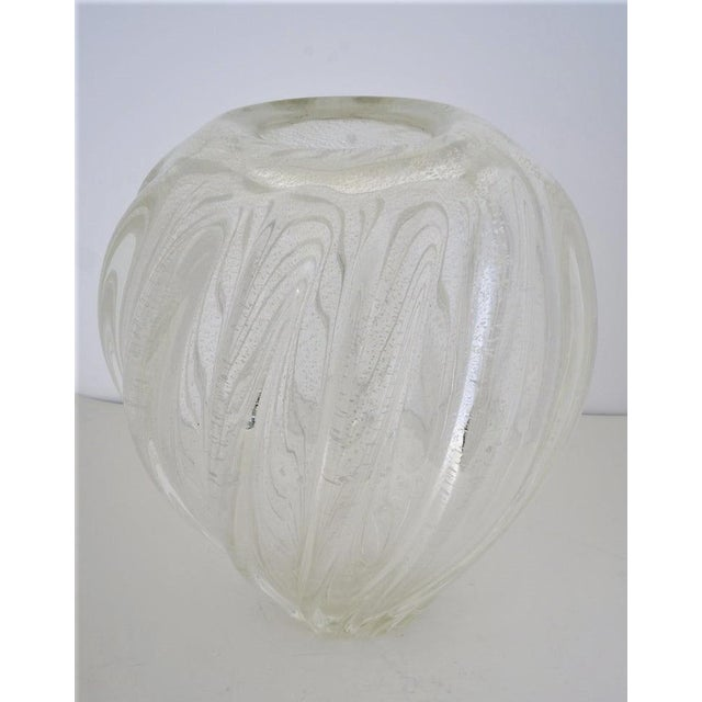 Vintage Murano Glass Vase With Silver Flecks For Sale - Image 13 of 13