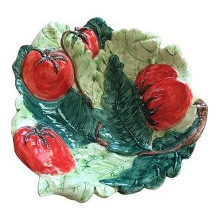 Vintage Italian Heavy Hand Painted Majolica Bowl