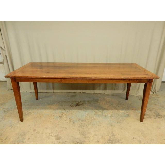 Brown Early 19th C. French Walnut Farm Table For Sale - Image 8 of 8