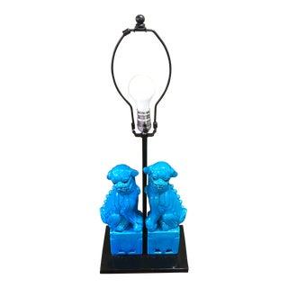 Turquoise Foo Dog Lamp