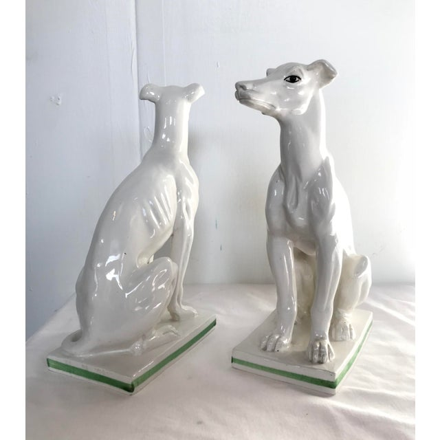 Green Blanc De Chine Italian Greyhound's , a Pair For Sale - Image 8 of 13