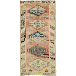 1930s Vintage Turkish Oushak Runner Rug - 5′1″ × 10′6″ For Sale